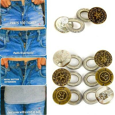 £2.55 • Buy 6 Pants Extender Waist Expanders Button Jeans Maternity Quick Fix Add An Inch