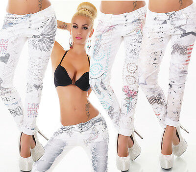 £36.79 • Buy WoW SEXY Italy JEANS HOSE Baggy Boyfriend Chino Style *10 MODELLE* S M L XL