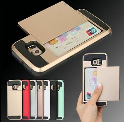$ CDN3.74 • Buy Slide Wallet Case For Galaxy Samsung Android Credit Card Hidden Slot Pocket ID A