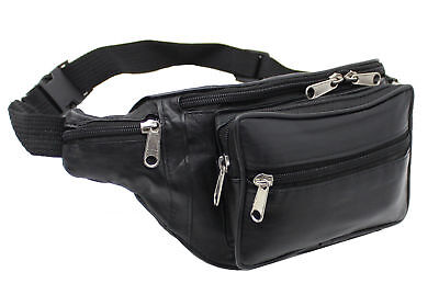 Real Leather Zipped Secure Waist/ Bum Bag, Travel/holiday Money Document Pouch • 6.75£