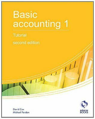Basic Accounting 1 Tutorial: 1 (AAT Accounting -... By Fardon, Michael Paperback • 6.49£