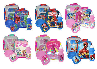 3 Piece Character Lunch Box Set Pcs Insulated Bag Sandwich Box Sports Bottle • 8.95£