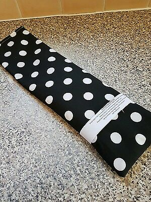 £4.80 • Buy Handmade Microwave Wheat Bag / Chill Pack - Long Size - 6 X19  Black Spotty