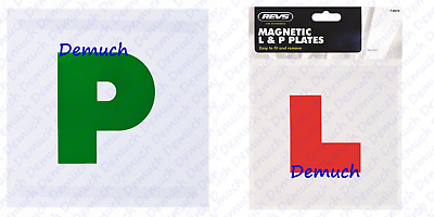 New 4X MAGNETIC L & P PLATES Exterior New Pass Car LEARNER DRIVER Reusable UK ✔ • 2.20£