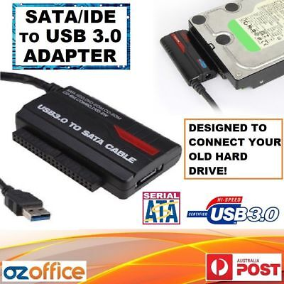 AU34.95 • Buy Hard Drive SATA IDE To USB 3.0 Adapter Converter 2.5  3.5  HDD SSD POWER ADAPTER