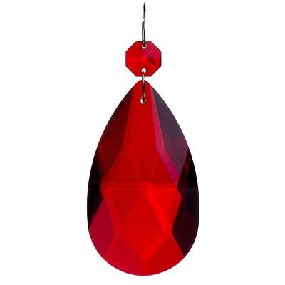 £8 • Buy Large 11cm Red Pendant Chandelier Almond Crystal Spare Replacement Litecraft
