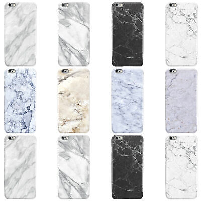 Dyefor Faux Marble Effect Range Hard Phone Case Cover For Apple Iphone • 4.95£