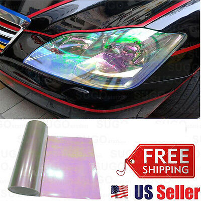 $11.40 • Buy 12 X60  Chameleon Neo Pearl Color Headlight Tail Fog Lamp Tint Tinted Film Wrap