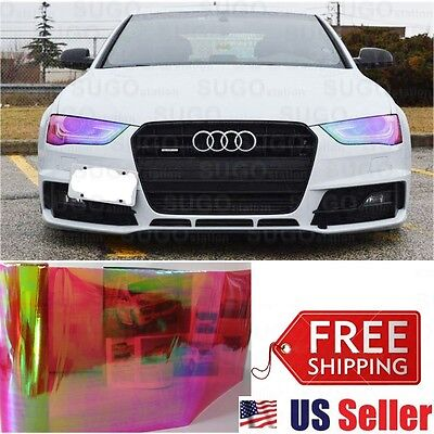 $11.40 • Buy Chameleon Neo RED Colorful Headlight Taillight Fog Tint Film Wrap Roll 12 X5FT