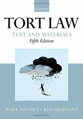 £4.99 • Buy Tort Law: Text And Materials By Oliphant, Ken Book The Cheap Fast Free Post