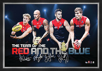 AU99 • Buy Melbourne Demons Signed AFL Player Print Framed Nathan Jones Jack Viney Watts