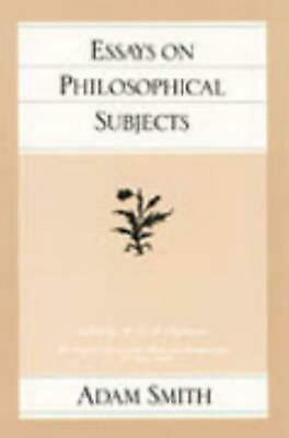 AU38.85 • Buy Essays On Philosophical Subjects By Adam Smith (English) Paperback Book Free Shi