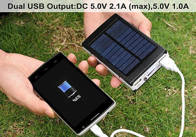 AU27.95 • Buy 50000mAh Solar Power Bank 2 USB Portable Pack Charger Phone Battery Camping