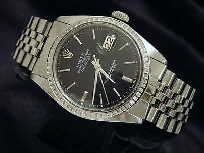 $ CDN4852.89 • Buy Rolex Datejust Mens Stainless Steel Watch With Black Dial And Jubilee Band 1603