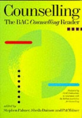 £7.49 • Buy Counselling: The BACP Counselling Reader By Pat Milner Paperback Book The Cheap