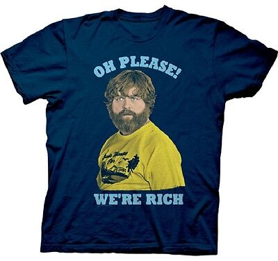 £13.05 • Buy Official The Hangover T-shirt - Oh Please We're Rich -Comedy Movie Bradley Coope
