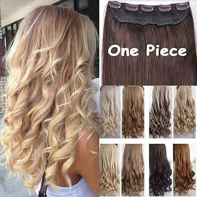 Real Thick 1pcs Clip In 3/4 Full Head Hair Extensions Extension One Piece F7 • 8.93$