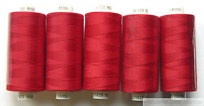 £6.99 • Buy 5 X RED MOON POLYESTER SEWING THREAD COTTON 120s ( M046 )