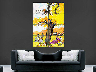 Calvin And Hobbes Kids Poster Wall Art Picture Print Large  Huge Comic Book • 17.99£