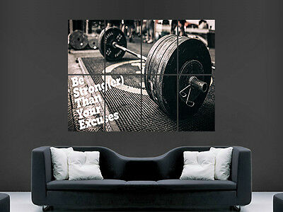 Weightlifting Motivation Poster Print Wall Art Gym Fitness Weights Image Giant • 17.99£