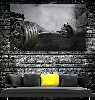WEIGHTLIFTING GYM FREE WEIGHTS FITNESS Wall Art LARGE IMAGE GIANT POSTER • 17.99£