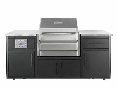 $8398 • Buy Memphis Outdoor Kitchen With Pro Wood Fired Grill With Wifi -  Free Wood Pellets