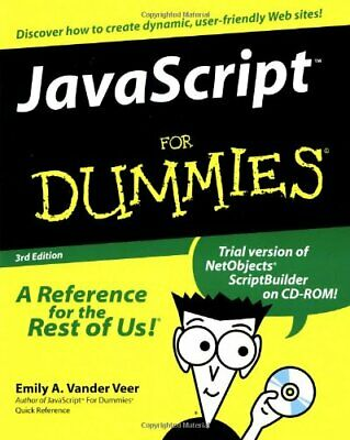 Javascript For Dummies By Vander Veer, Emily A. Mixed Media Product Book The • 7.49£
