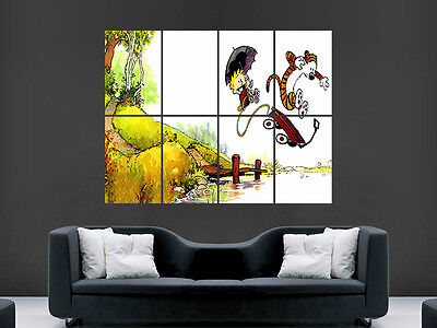 Calvin And Hobbes Kids Poster Comic Funny Book Art Picture Print Large  Huge • 17.99£