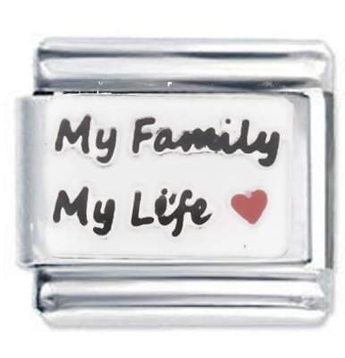Daisy Charm - My Family - Stainless Steel Compatible With Italian Charm Bracelet • 3.80£