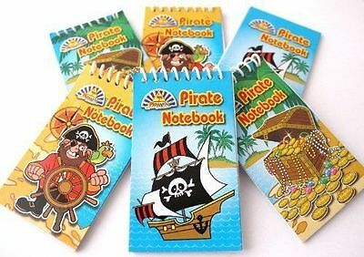 £3.69 • Buy 12 Pirate Mini Spiral Notebooks For Children's Birthday Party Loot Bags