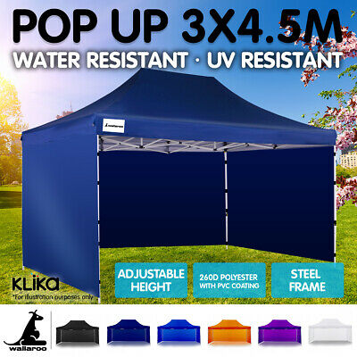 AU219 • Buy 3x4.5m WALLAROO POP UP OUTDOOR GAZEBO FOLDING TENT PARTY MARQUEE SHADE CANOPY
