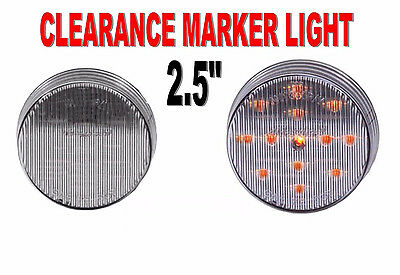 $8.75 • Buy Maxxima 2-1/2  Round Clearance Side Marker Light 13 LED Amber/Clear Lens