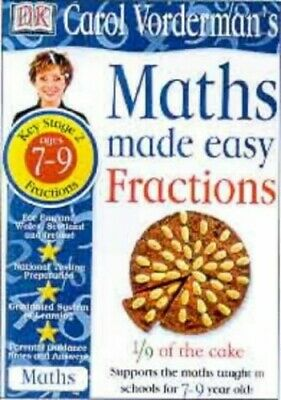 Maths Made Easy Topic Book: Fractions KS2 Lower... By Vorderman, Carol Paperback • 6.49£