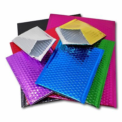 £24.70 • Buy CD DVD Gift Shiny Metallic Foil Bubble Wrap Lined Padded Mailing Bags Envelopes