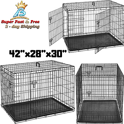$102.37 • Buy Xxl Dog Crate Chain Link Dog Kennel Outdoor Pet Big Dog Cage Extra Large Metal
