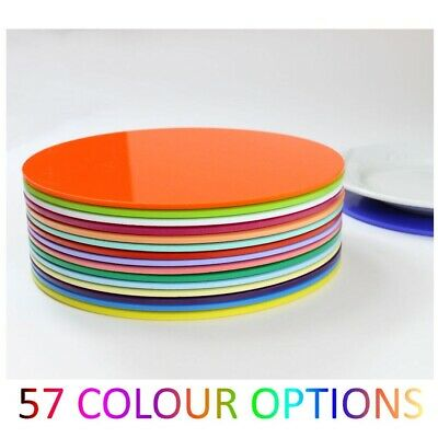 £6.45 • Buy Plastic Placemat Acrylic Placemats Colour Kitchen Dining Table Mix & Match Round