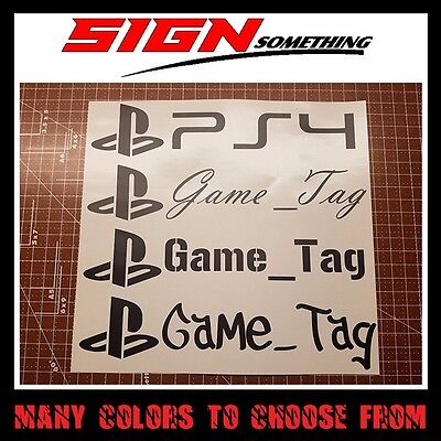 $ CDN16.53 • Buy PlayStation Gamertag Decal / Sticker Customizable Your Username Game Tag Gamer