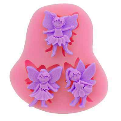 £3.49 • Buy 3 X Fairy Angels Silicone Icing Mould Baking Chocolate Cake Topping Christmas