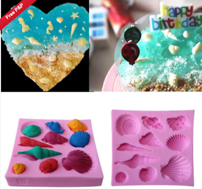 £4.69 • Buy 3D Sea Shell Conch Beach Silicone Icing Mould Baking Fondant Cake Sugar Craft