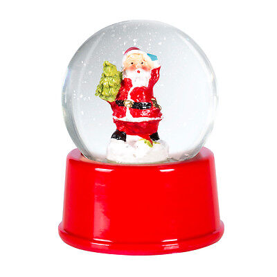 Christmas Santa Claus Snow Globe Snowglobe Xmas Decoration Ornament Festive New • 4.99£