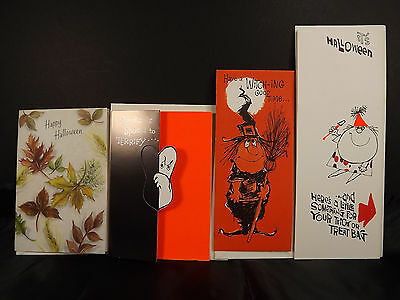 $ CDN19.81 • Buy Hallmark Gibson Halloween Witch Ghost Vintage Greeting Cards Envelopes Lot Of 4