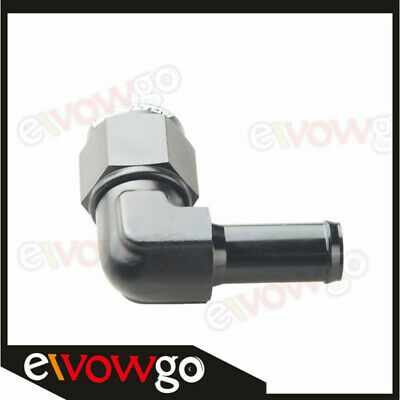 AU17.09 • Buy 8AN AN8 AN-8 Female To 1/2  (13mm) 90 Degree Barb Hose Adapter Fitting Black