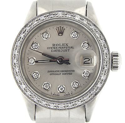 $ CDN5138.89 • Buy Rolex Datejust Lady Stainless Steel Watch Oyster Silver Diamond Dial And Bezel