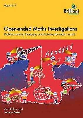 AU37.45 • Buy Open-ended Maths Investigations, 5-7 Year Olds By Ann Baker Paperback Book Free