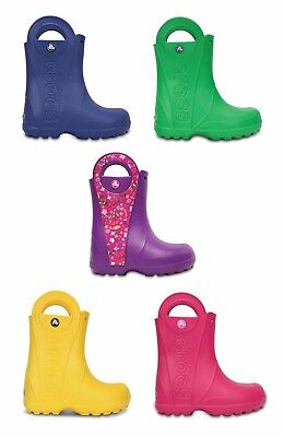 Crocs Kids Handle It Rain Croslite Boys Girls Lightweight Wellies Boots. • 18.99£