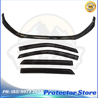 AU119 • Buy Bonnet Protector + Window Visors Weather Shields To Suit Ford Everest 2015-2020