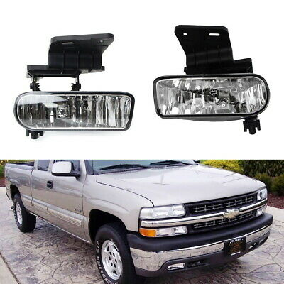 $35.14 • Buy Complete Clear Lens Fog Lights W/Bracket For Chevy 1500 2500 3500 Suburban Tahoe