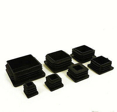 Square Plastic Black Blanking End Caps Tube Pipe Inserts Plug Bung Box Section • 2.85£