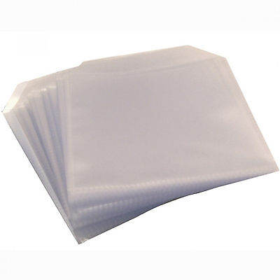 £4.85 • Buy 100 X High Quality CD DVD Clear Plastic Sleeves Wallet Cover Case 120 Micron