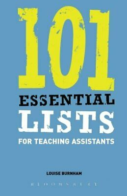 £11.99 • Buy 101 Essential Lists For Teaching Assistants (Ess... By Burnham, Louise Paperback